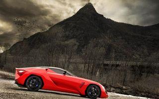 Бесплатные фото автомобиль,колеса,диски,шины,цвет,красный,гора