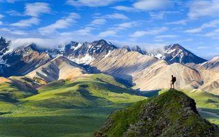 Фото бесплатно долина, трава, горы