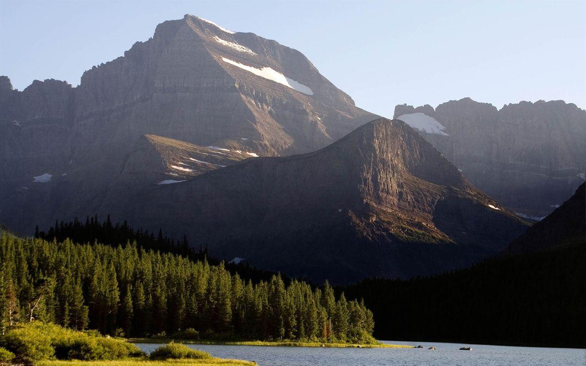Фото бесплатно горы, деревья, высота, скалы, камни, небо, облака, склон, природа, природа