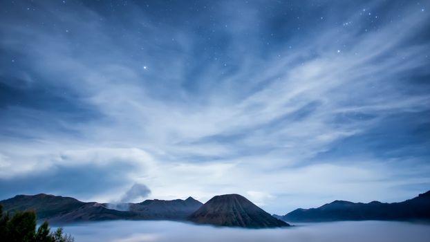 Фото бесплатно горы, вулканы, пар
