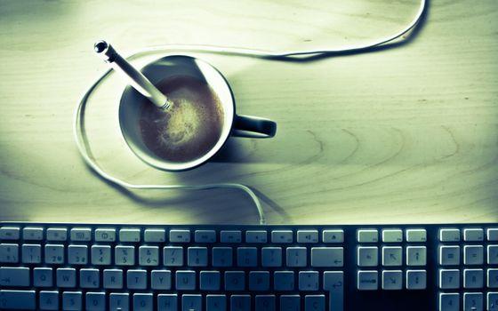 Бесплатные фото кофе,кружка,ручка,стол,клавиатура,ситуации,юмор