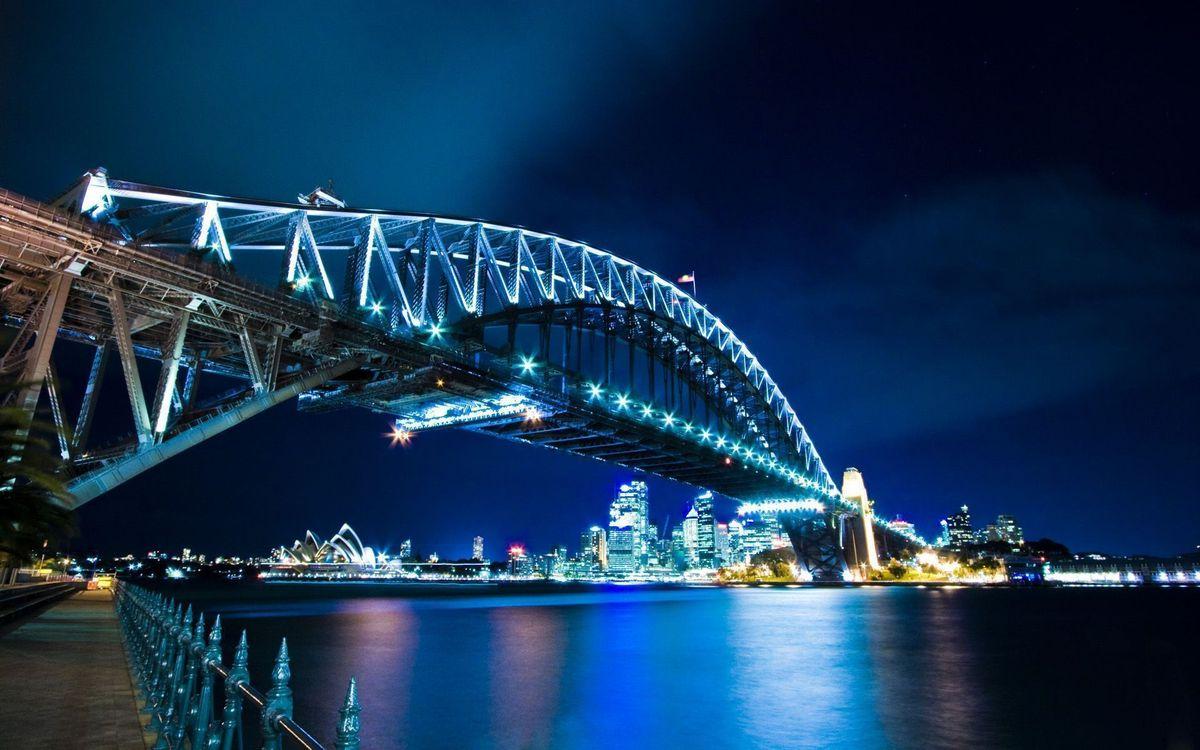 Фото бесплатно мост, вода, река, отражение, небо, дорога, горизонт, город, город