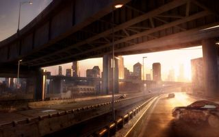 Бесплатные фото мост,дома,дорога,асфальт,шоссе,ограждение,фонари