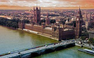 Фото бесплатно мост, дома, море