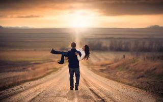 Фото бесплатно мужчина, девушка, дорога