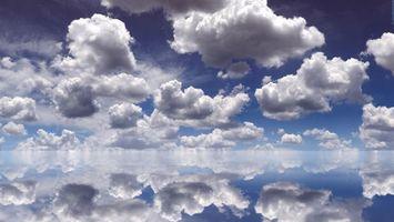 Фото бесплатно небо, облака, много