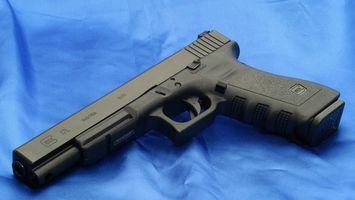 Photo free pistol, black, trigger