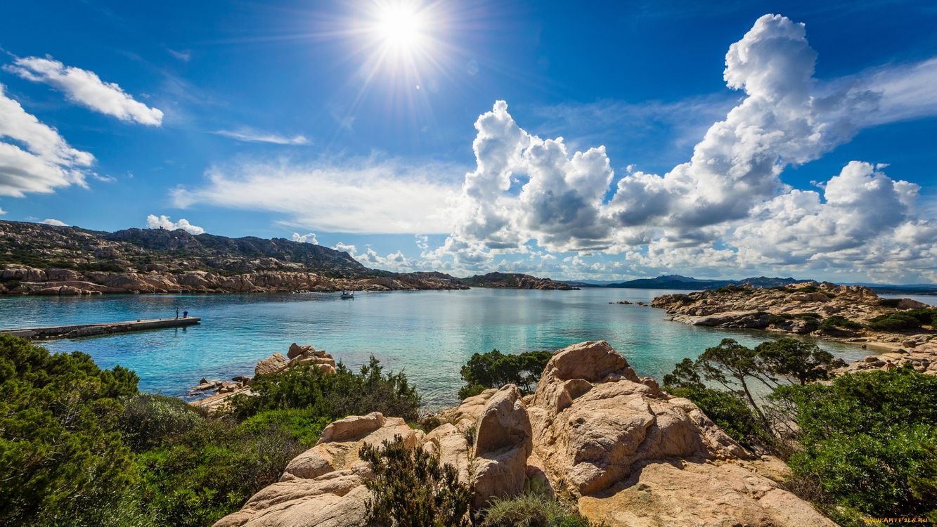 Free photo sun, stones, nature - to desktop