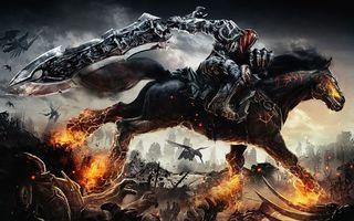 Фото бесплатно darksiders, рыцарь, конь