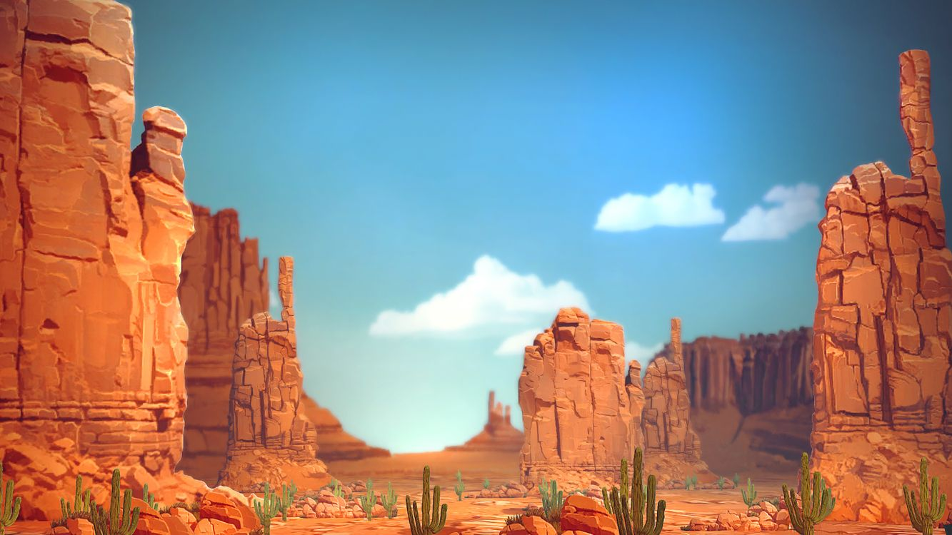 Фото бесплатно скалы, горы, пески, кактусы, пустыня, каньон, камни, жара, лето, тепло, небо, голубое, облака, рисунок, природа, разное