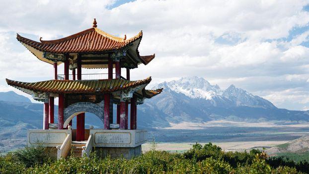 Заставки снежные горы, китай, кусты