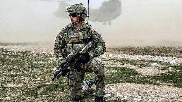 Photo free soldier, usa, assault rifle