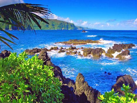 Фото бесплатно тропики, море, скалы