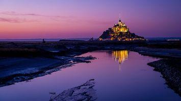 Бесплатные фото вода,отражение,гора,замок,свет,вечер,пейзажи
