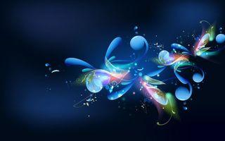 Бесплатные фото заставка,фон,синий,цветок,блеск,искусство,узор