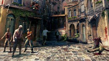 Бесплатные фото зомби,дома,улица,окна,лестница,плитка,дорожка