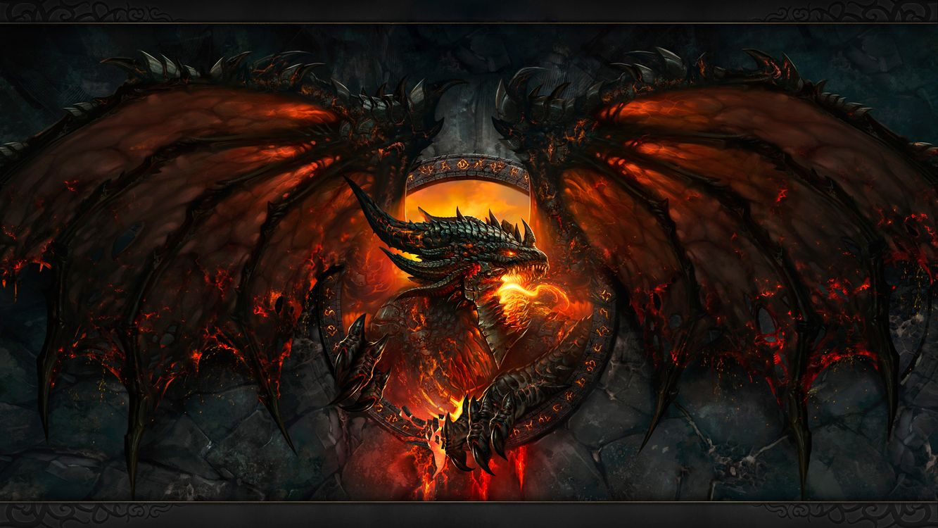 Free photo world of warcraft, dragon, in fire - to desktop
