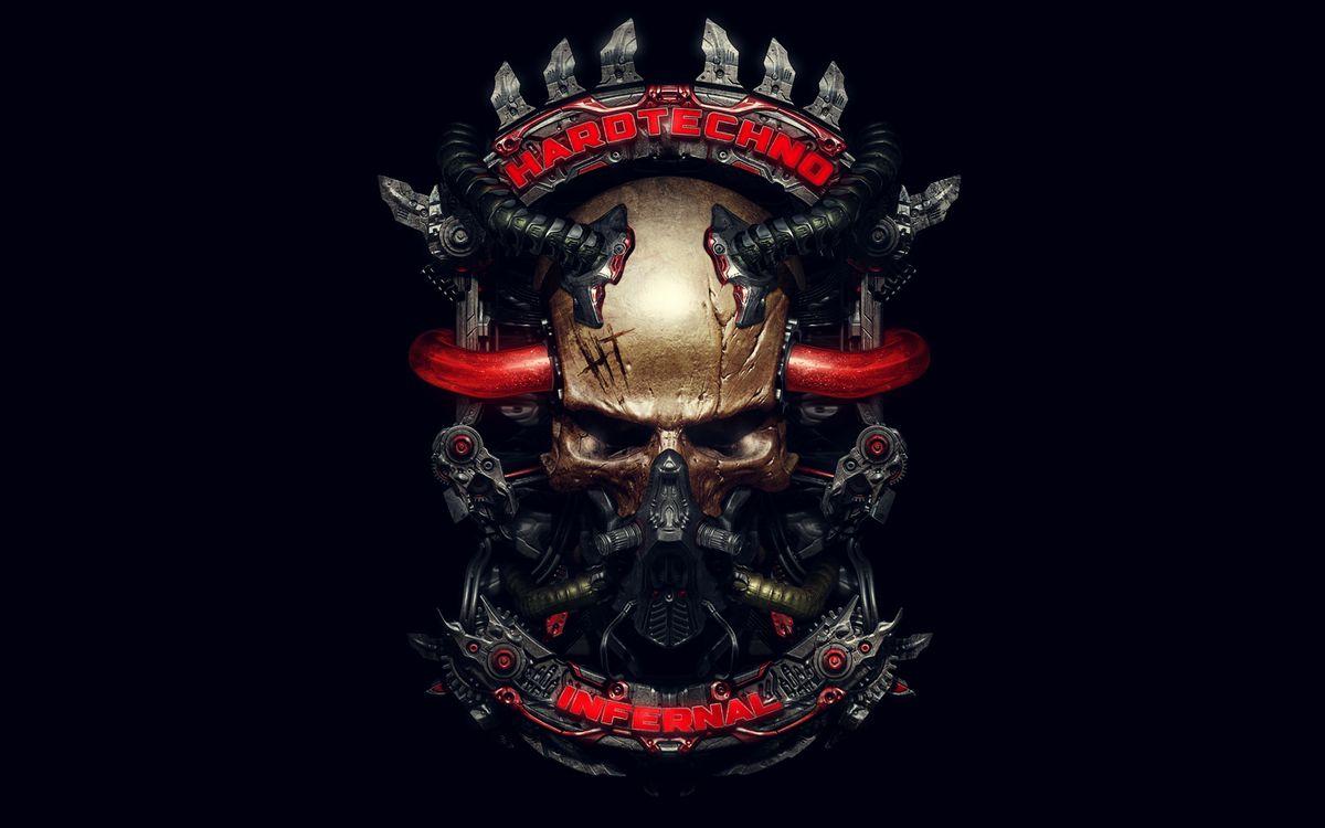 Фото бесплатно череп, механизм, hardtechno, infernal, трубки, музыка, стиль, стиль