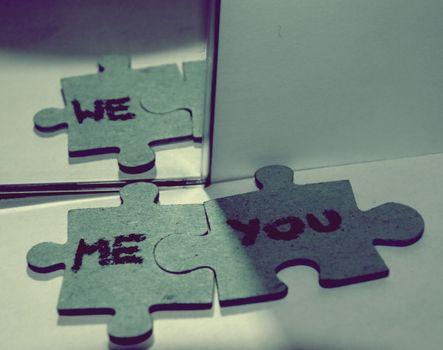 Фото бесплатно мазайка, we, me, you, зеркало, отражение, разное
