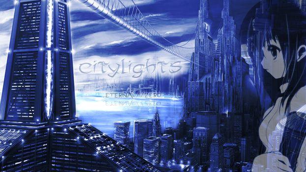 Заставки город,дома,небоскреб,citylights,мультик,фантастика