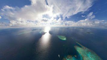 Фото бесплатно острова, самолет, небо