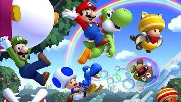 Бесплатные фото человек,радуга,гном,деревья,пузыри мыльные,шар,прыжок