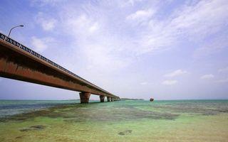 Заставки мост, пляж, песок