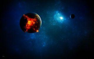 Заставки космос, планеты, взрыв