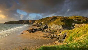 Бесплатные фото море, вода, песок, горы, трава, небо, природа