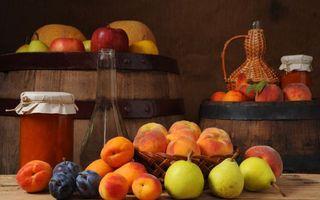 Фото бесплатно персики, сливы, груши