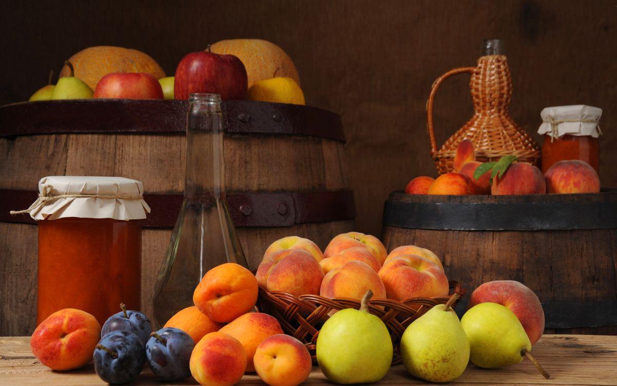 Фото бесплатно персики, сливы, груши - на рабочий стол