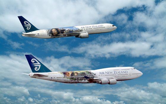 Фото бесплатно самолеты, пассажирские, небо