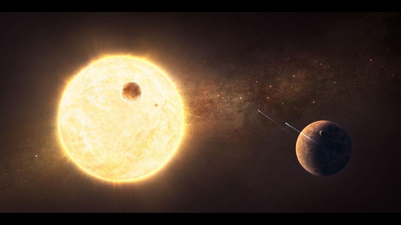 Обои солнце, земля, звезды картинки на телефон