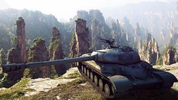 Фото бесплатно танк, дуло, пулемет