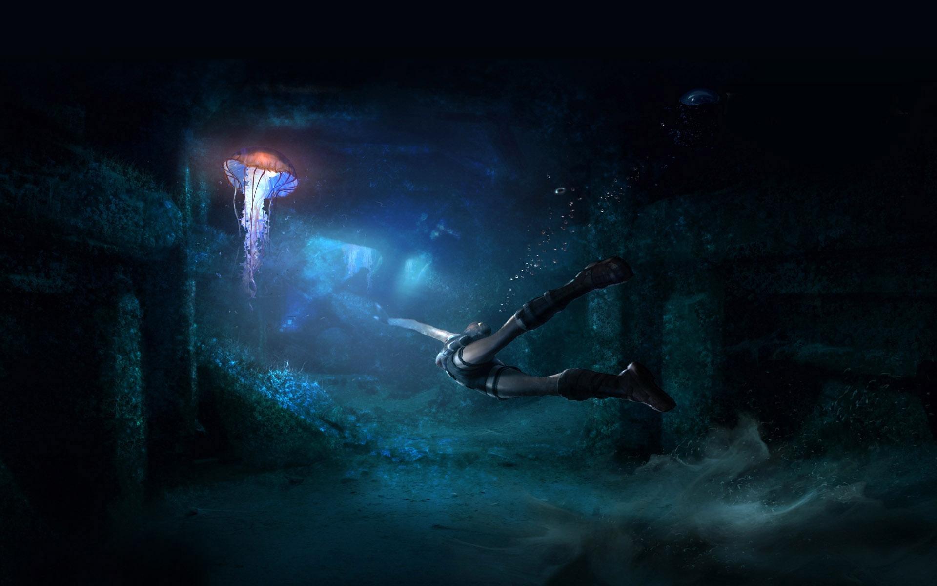 tomb raider, затопленный, город