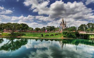Бесплатные фото вода,дома,деревья,небо,облака,красиво,город