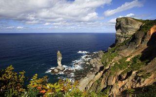 Бесплатные фото вода, море, скалы, статуя, горы, берег, небо