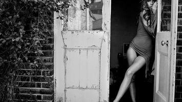 Фото бесплатно волосы, дверь, рука