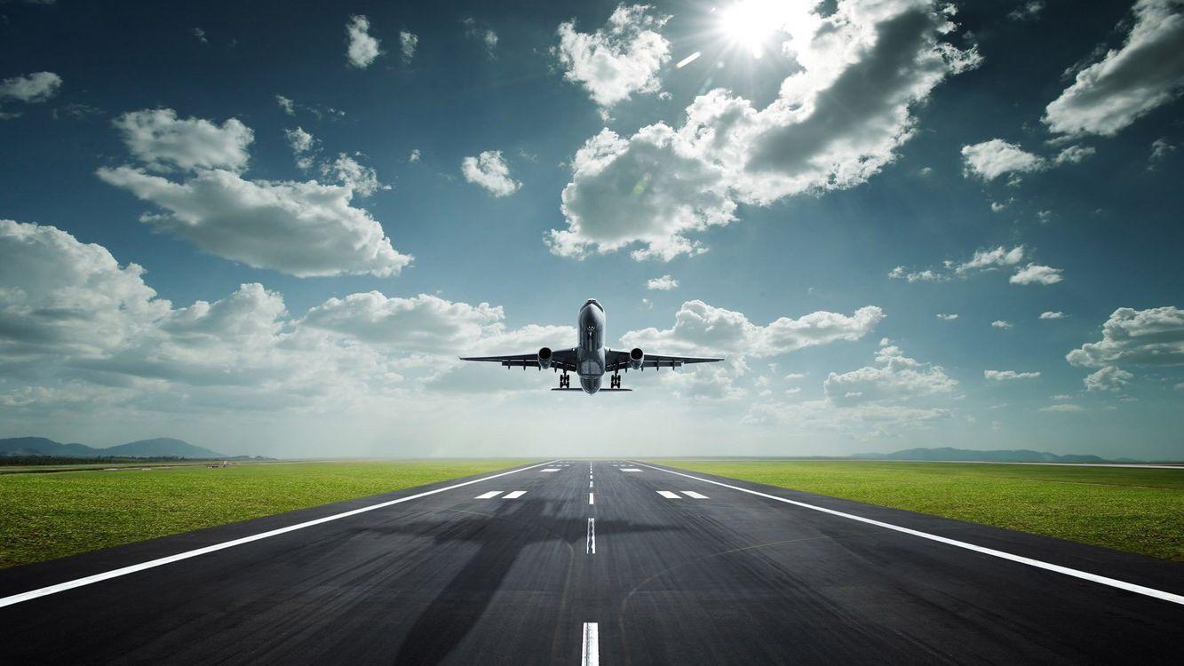 Фото бесплатно самолет, аэропорт, взлетная полоса - на рабочий стол