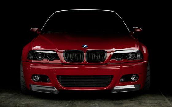 Бесплатные фото bmw,красный,передок,машины