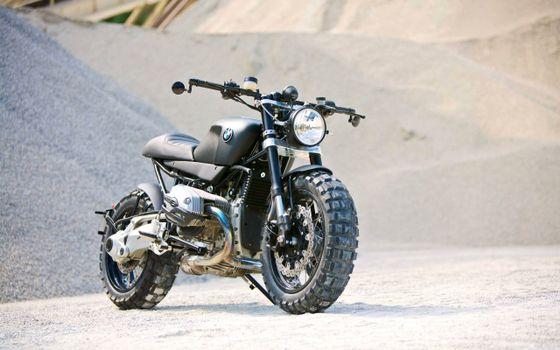 Фото бесплатно bmw-r1200r scrambler, мотоцикл, байк