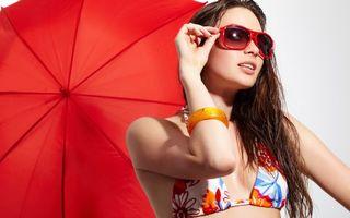 Фото бесплатно зонтик, портрет, помада