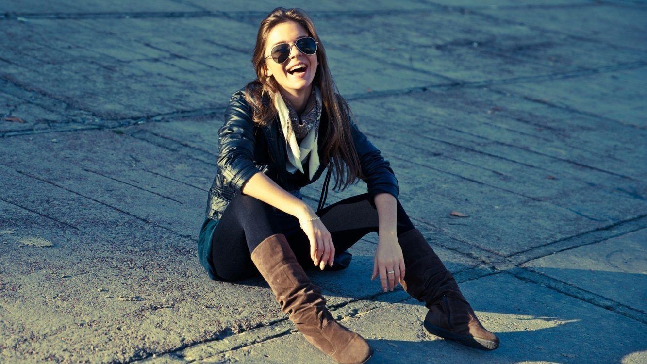 Фото бесплатно девушка, настроение, шатенка - на рабочий стол