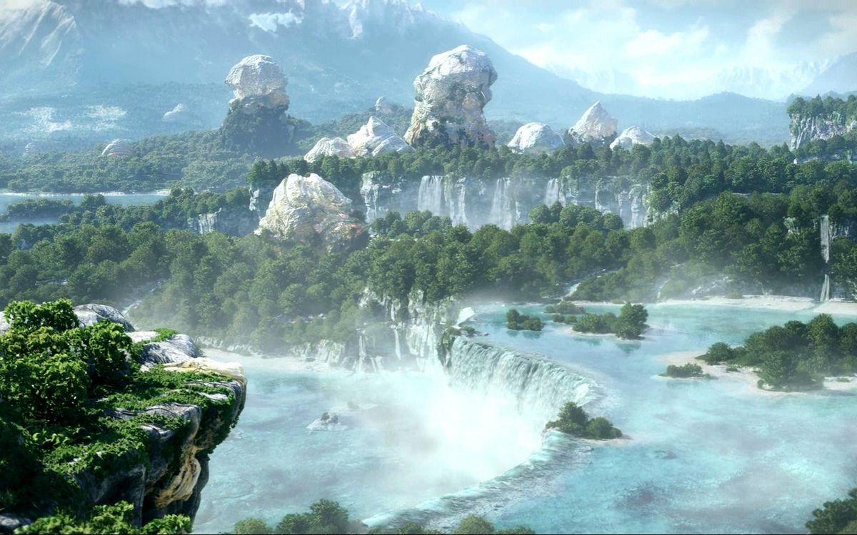 Обои камни, пейзажи, течения картинки на телефон