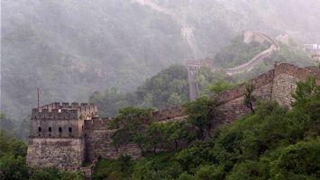Фото бесплатно китайская стена, лес красиво, горы