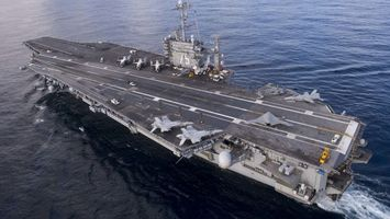 Photo free aircraft carrier, ocean, airplanes