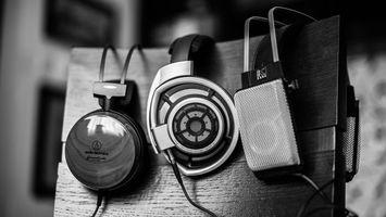 Photo free headphones, back, chair