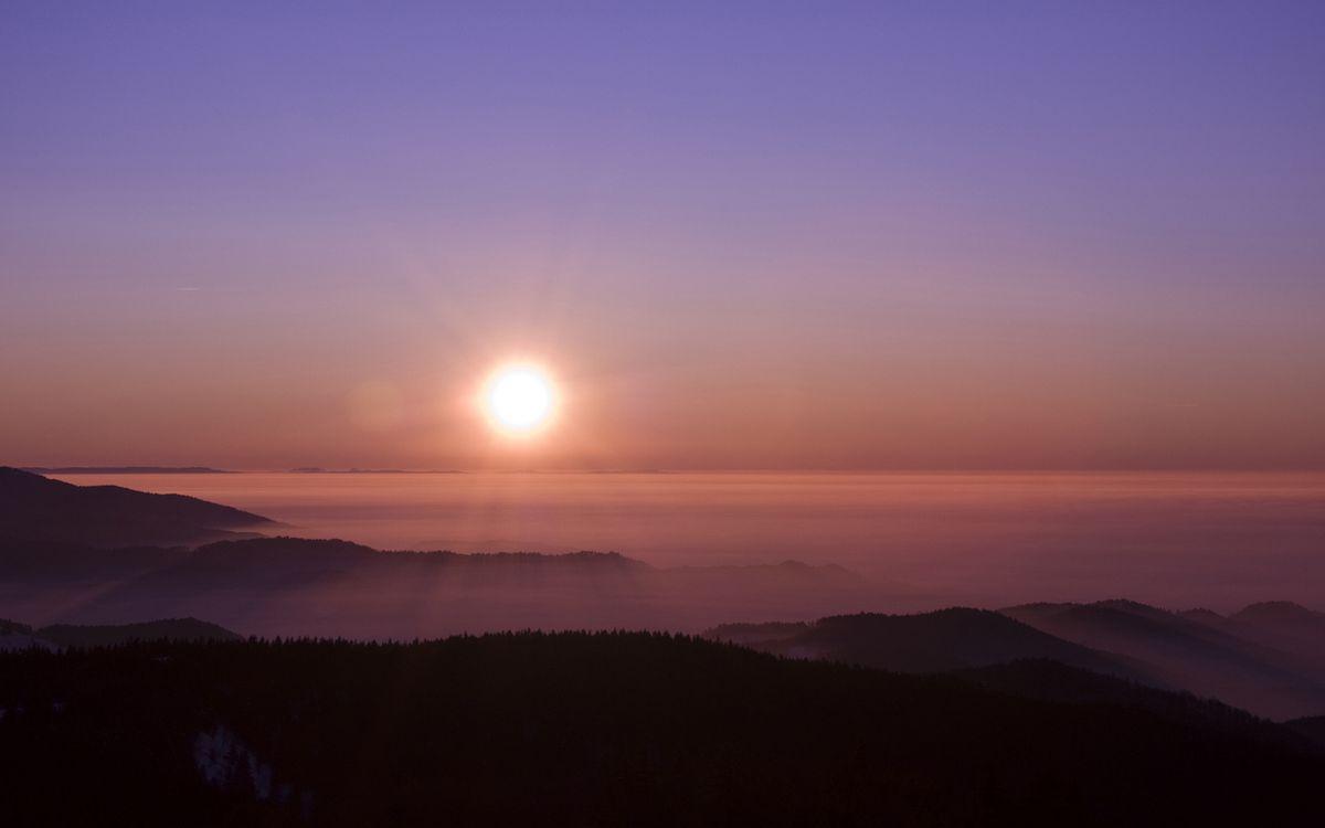 Фото бесплатно небо, облака, солнце, лучи, свет, горизонт, трава, море, туман, пейзажи, пейзажи - скачать на рабочий стол