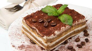 Бесплатные фото пирожное,тортик,кусочек,корица,какао,кофе,зерна