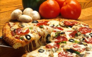 Photo free pizza, vegetables, tomato